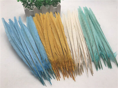 10-1000pcs Beautiful Natural pheasant tail feathers 10-12inches/25-30cm