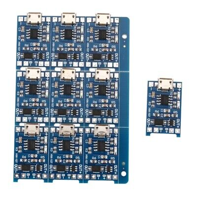 10Pcs 5V mini USB 1A 18650 TP4056 Lithium Battery Charging Board With Prote N5F4