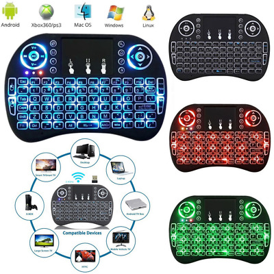 Mini Wireless Air Keyboard Backlight 2.4G Touchpad Mouse For TV Box PC Android