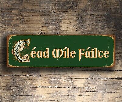 Cead Mile Failte Irish Welcome Sign Wall Plaque Irish Decor Celtic Sign Ireland