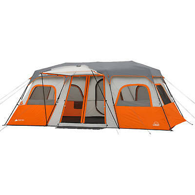 """NEW Trail 18"""" x 10' Instant Cabin Tent with Integrated Led Light, Sleeps 12"""