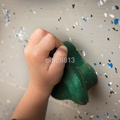 Useful Adult Children Rock Wall Climbing Hand Holds with Hardware Screw AU