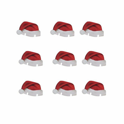 10pcs Beauty Xmas Hats Wine Glass Caps Christmas Party Decoration Decor