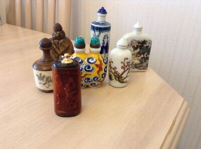 Collection Of 7 Chinese Snuff Bottles