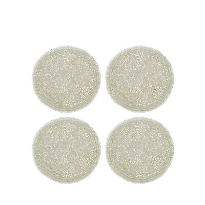 Star By Julien Macdonald Pack Of 4 Ivory Beaded Coasters From Debenhams