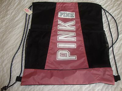 Victoria's Secret Love Pink begonia light weight draw string back pack school