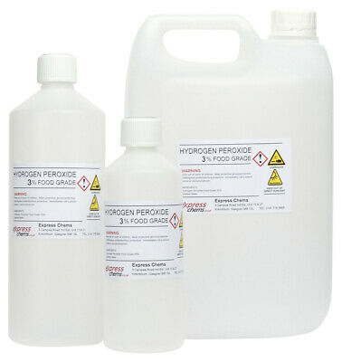 HYDROGEN PEROXIDE (3%) FOOD GRADE - 100ml to 20 Litres
