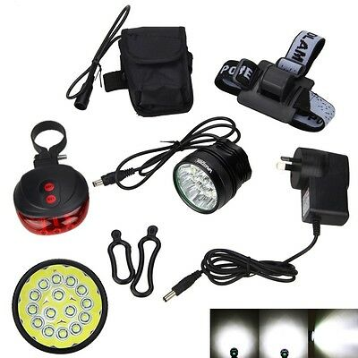Powerful 50000Lm 15x XML T6 LED 3Modes Head Bike Bicycle Light Headlight Battery