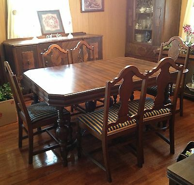 1932 Vintage Dining Room Set With Buffet And China Cabinet