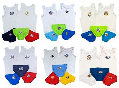 Boys Vest and Pants Set Three Pants and Two Vests Sets 18-24m up to 4-5 Years