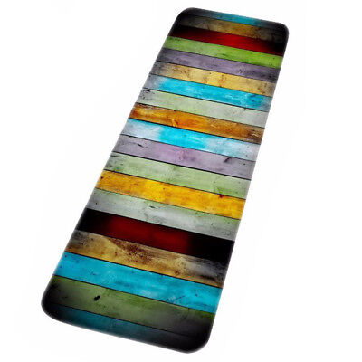 Long paragraph colorful wood prints Water Absorbent Bath Mats For Bathroom M2X3