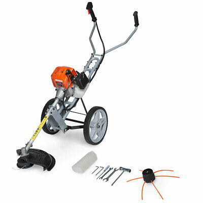 Fox 52cc Petrol Lawn Ranger Petrol Wheel Mounted Grass Trimmer Strimmer SALE