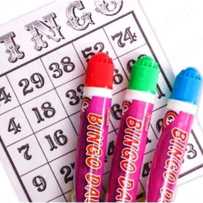 Pack of 3 Mixed Colour Bingo Dabbers Marker Pens - Non Drip Ink Dabber Set