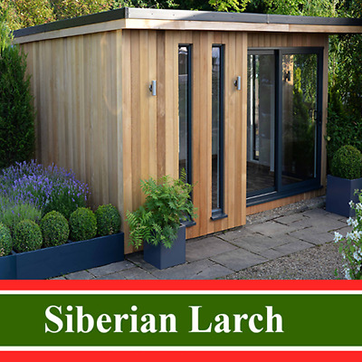 150mm x 25mm Siberian Larch Hardwood Log Lap Timber Cladding SEE POSTCODES