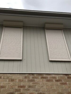 Roller Shutters Full Set For 2x Windows Used For One Month