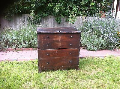 antique wooden blanket/storage box georgian mahogany
