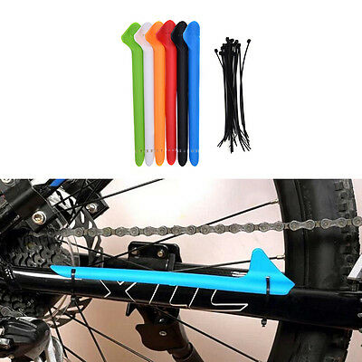 MTB Bike Bicycle Frame Chain Guard Chain Stay Rear Fork Pad Protector Cover X8