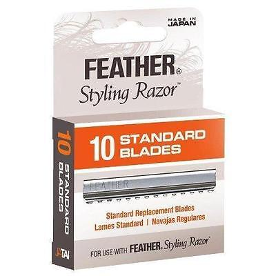 NEW Jatai Feather Styling Razor Standard Replacement Blades 10pcs F1-20-100