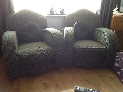 a pair of art deco armchairs Local Pickup