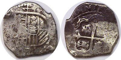 1600's Colonial Spain Mexico 4 Reales Silver COB