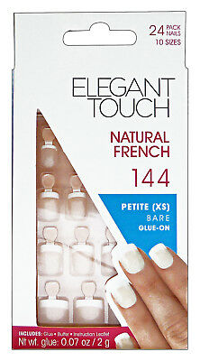 ELEGANT TOUCH Fake Nails natural 144 french petite coffins