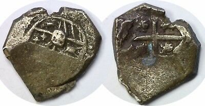 1600-1700's Colonial Spain Mexico 2 Reales Silver COB