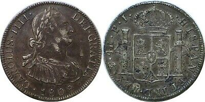 1808 PTS PJ Bolivia 4 Reales Silver Carlos IIII KM# 72 Extra Fine Details