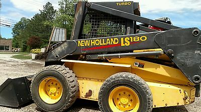 "2001 New Holland Ls-180 Turbo ""super Boom"" Skid Steer Loader 2478 Hours"