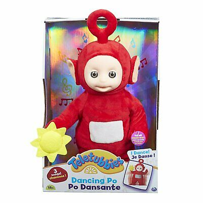 Teletubbies Dancing & Singing Po Plush Soft Toy 18 Months + NEW