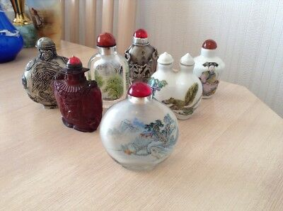 Excellent Collection Of 7 Chinese Snuff Bottles