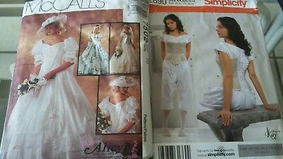 southern belle civil war ball gown chemise drawers corset patterns sz 8-14 New