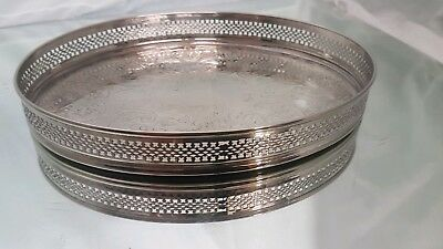 Avery elegant vintage silver plated gallery serving tray.with decorated patterns
