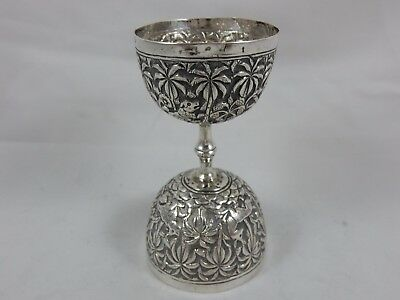 INDIAN , solid silverDRINKS MEASURE, c1920, 61gm