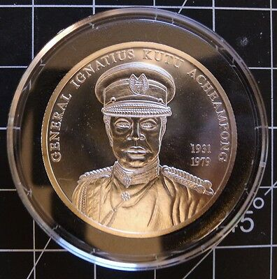 ✔ 2002 Ghana 100 Sika 1 oz Sterling Silver Coin Proof-Like GEM BU UNC & Air-tite