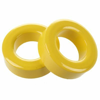 2 Pcs 33mm x 19mm x 11mm Yellow White Iron Core Ferrite Rings Toroid P7L5