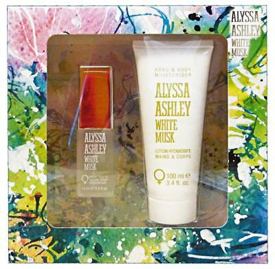 ALYSSA ASHLEY weißes Moschus Gift Box edt 15 ml + 100 ml Lotion.