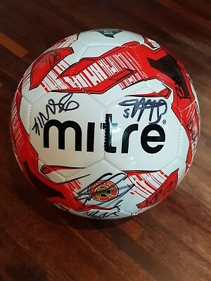 OFFICIAL & GENUINE WALSALL FC HAND SIGNED FOOTBALL by 17 OF THE 2017/18 SQUAD.