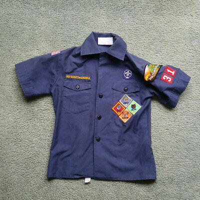 Cub Scout uniform shirt, blue youth size small
