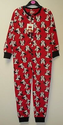 NEW GIRLS DISNEY 'MINNIE MOUSE' ALL IN ONE PYJAMAS RED AGES 3-4 up to 9-10
