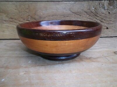 Vintage Mid Century Wooden Fruit Bowl, Mixed Woods - Lot 2