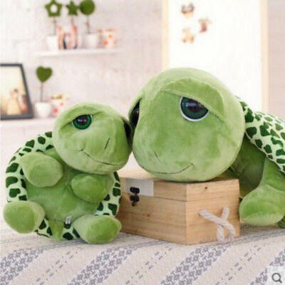 "23.6"" Tortoise Turtle Stuffed Plush Toy Pillow Big Eyes Green Gift for Girl Baby"