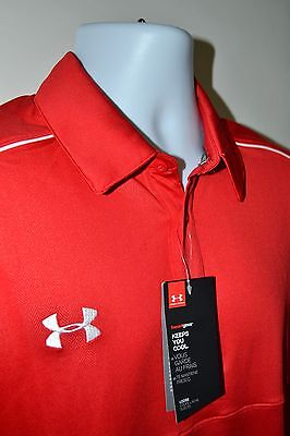 Under Armour Men's Red Heatgear Performance Polo Size Large, XL - $65 NWT