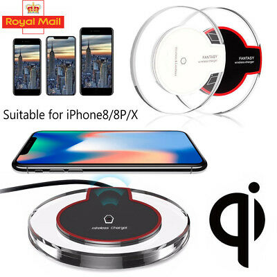 QI Wireless Charger Charging Pad Mat Dock For Apple iPhone 8 / 8 Plus / X NEW