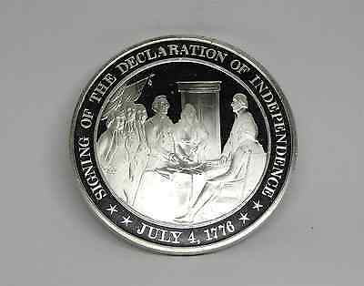 1776 Declaration of Independence Franklin Mint Sterling Silver Proof Coin Medal