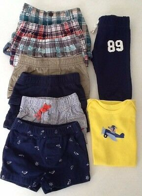 Baby Boy 3 - 6 Month Clothing Lot 9 Pieces Carters Jumping Beans Gymboree