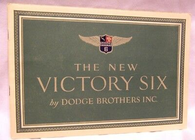 1928 Dodge Brothers New Victory Six Automobile Sales Brochure Booklet