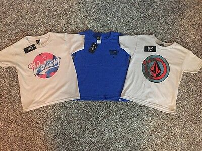 Boys Volcom Size 4 Toddler T-Shirt Lot Of 3 New With Tags