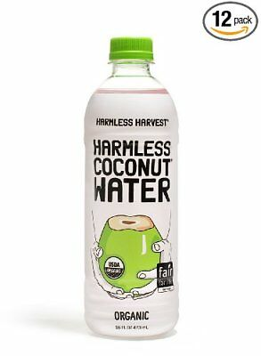 Harmless Coconut Water, Original 16oz, (Pack of 12)