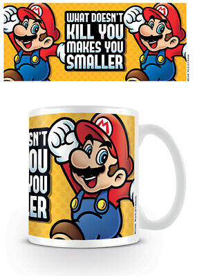 Super Mario Bros - Ceramic Coffee Mug (What Doesn't Kill You Makes You Smaller)
