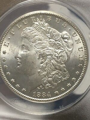 1884-CC Morgan Silver Dollar ANACS MS63